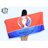 Quality Microfiber Size 30'' x 60'' Europe Cup Logo Beach Towel , Fast Drying Super Absorbent Gym Towel for sale