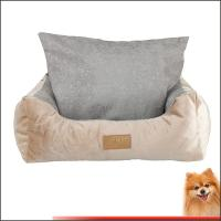 washable dog bed free shipping Stripes short plush pp cotton pet bed china factory