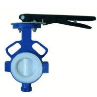 Quality Manual Wafer PTFE Lined Butterfly Valve for sale