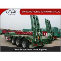 3 Axle 60 Ton Gooseneck Low Bed Semi Trailer With Ladder For