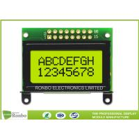 Quality STN / FSTN COB LCD Character Display Module Display 8 * 2 White LED Backlight for sale
