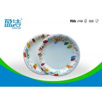 Quality 6 Inch Diameter Disposable Paper Plates Printed By Flexo Water Based Ink for sale