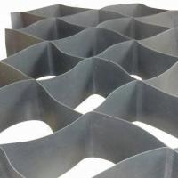 China HDPE Textured Slope Protection Geocell , Soil Erosion / Slope Stabilization Matting on sale