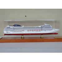 Quality MSC Musica Cruise Ship Mediterranean Cruises Ship Models With Alloy Diecast Anchor Material for sale