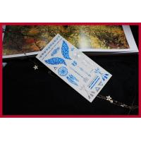 Quality Metallic flash temporary tattoo, temporary gold foil silver tattoo mixed color for sale