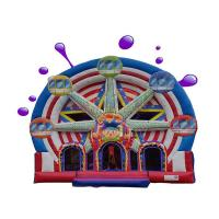 China Ferris Wheel Inflatable Combo Bounce House / Commercial Jumping Castle on sale