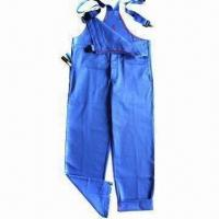China Flame Retardant Bib Pants with 100% Cotton Twill Fabric, According to EN11612/EN11612 on sale