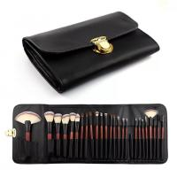 Quality Double Bags 26 Cosmetic Makeup Brush Set Animal Hair Wood Handle Material for sale