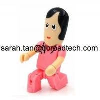 Quality Plastic Robot USB Flash Drives, Customized Figures Available for sale