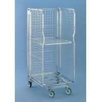 Quality 3 sided Multifunctional Security Roll Cage, Removable Door Logistic Cart Roll Container for sale
