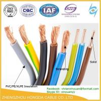 Quality pvc insulated copper stranded vs solid wiring copper AWG electric wire for sale