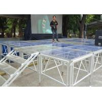 Quality Aluminum Alloy Portable Outdoor Stage Platforms 18 M Thickness SGS Approved for sale