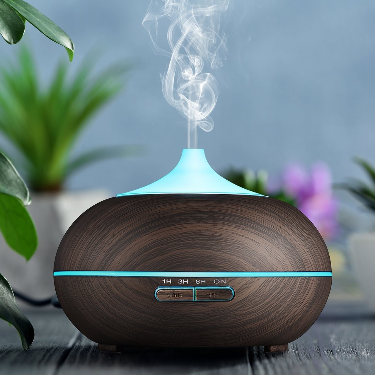 Quality 12W 300ml 0.65A Wood Grain Aroma Diffuser For Home for sale