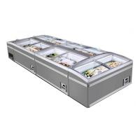 Quality Glass Top Open Curved Slide Supermarket Island Freezer Automatic Defrost for sale