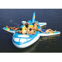 China 0.9mm PVC Tarpaulin Big Inflatable Water Toys Floating Airplane on sale