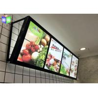 Quality Fast Food LED Menu Board , Wall Mounted Slim A2 Light Box Menu Boards Aluminum Frame for sale