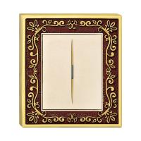 China Forged Brass One Gang One Way Wall Switch With Classic Patterns And LED Indicator on sale