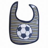 Quality Customized baby bib, made of phthalate-free dying cotton, comfortable for sale