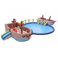 Quality Pirate Ship Commercial Inflatable Water Park 0.9mm PVC Tarpaulin Made for sale