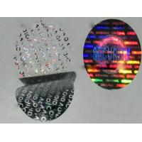 Quality Custom made anti-fake void one time use 3D gold silver hologram stickers on roll on sheet for sale