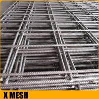 China Rebar 4mm Welded Wire Mesh Concrete Reinforcement Nature Surface Finish on sale