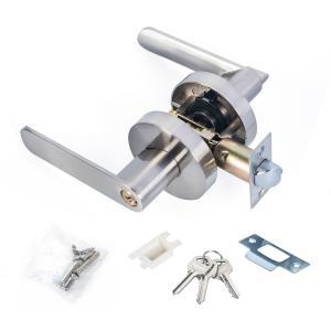 Quality Satin Nickel Lever Set Lock Living Room Bedroom Bathroom Tubular Door Handle Lock for sale