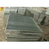 Quality Full Welded Galvanized Steel Walkway Grating Anti - Corrosive For Building Material for sale