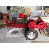 Quality Diesel Engine Powered Cable Winch Puller For Tower Erection 9 HP for sale