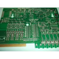 Gold FingerDouble Layer Custom PCB Boards Green Mask for