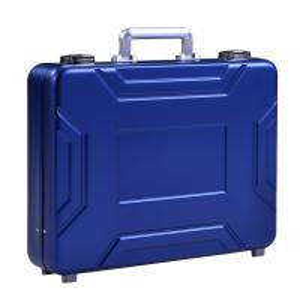 China MS-M-05 Anodize Blue Aluminum Suitcase Briefcase For Sale Aluminum Model Case on sale