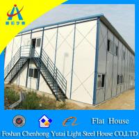 China prefabricated house prices,flat roof house design on sale