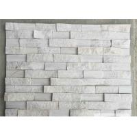 China Natural Snow White Marble Stone Veneer Ledge Stone 60x15 40x15 Z Shape on sale