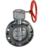 Quality Worm actuated wafer type butterfly valve for sale