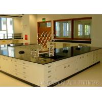 Quality Floor Mounted Dental Laboratory Bench Epoxy Resin Coating Cabinet With Gas Fitting for sale