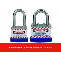 Quality 50mm Lock Body Width Blue Hardered Steel Laminated Safety Lockout Padlocks for sale