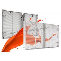 China Full Color Mesh Curtain Transparent LED Video Wall Display P7.81 Ultra Power Saving on sale