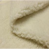 Quality Soft Faux Sherpa Fleece Fabric Shrink - Resistant For Baby Wear for sale