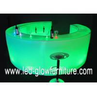 Quality Portable Round Lighted LED Bar Counter with Astera LED lights for special event for sale