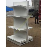 Buy Double Sided Four Tier Supermarket Display Stands / Retail Store Display Shelves at wholesale prices
