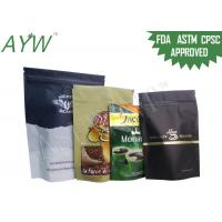 Quality Resealable Standing Up Individual Coffee Bags Gravure Printing Paper Laminated for sale