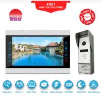 Quality Recordable video door phone intercom 7 inch AHD1080P video doorbell for sale