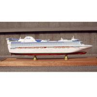 Quality Scale 1:900 Fine Princess Cruise Ship Models , Container Ship Model With ABS Hand Carving for sale