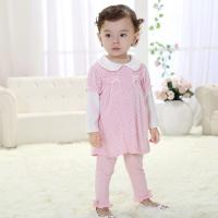 Quality Brand baby clothes 2014 autumn outfit off three pieces of dress suit (0-3 Year) for sale