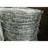 Quality Galvanized Stainless Steel Barbed Wire , Security Razor WireDouble Twisted for sale