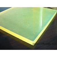 Quality high tear strength PU sheet,colored Anti-abrasion board   little yellow   45A-95A for sale