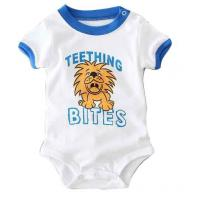 Quality OEM Breathable Soft Baby Short Bodysuit 100% Cotton For Newborn Baby Boy for sale