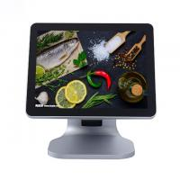 Quality 15 Inch True Flat Restaurant Pos System Silver Color With Aluminium Alloy Housing for sale