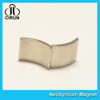 Quality N35 Permanent Neodymium Motor Magnets Curved Arc Rare Earth Segment Magnet for sale