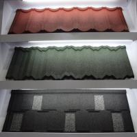Quality Colorful Anti - Rainstorm Stone Coated Step Tiles Roofing Sheet CE / SONCAP for sale