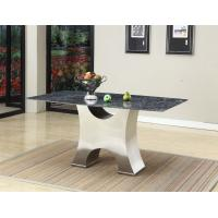 Italy Contemporary Modern Lobby Furniture , Dark  End Steel Table Special Design